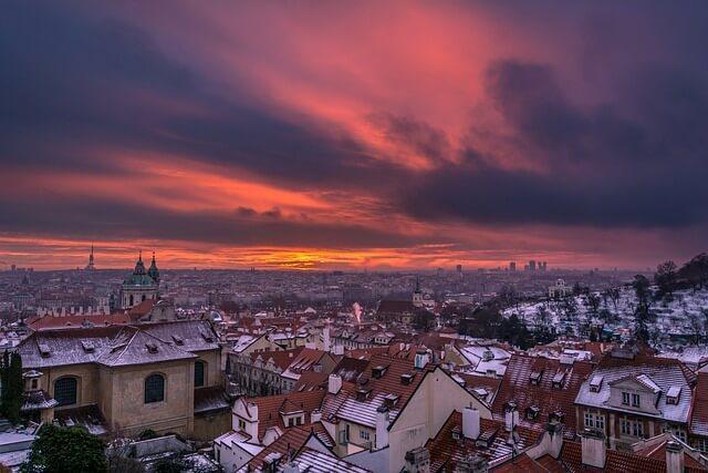 שלג בפראג
