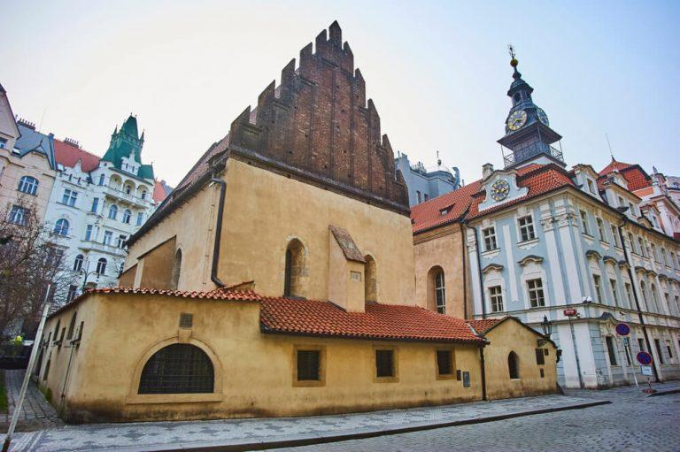 The old new synagogue (Staronova synagoga) in Prague in the Czech Republic. Prague's Jewish quarter.